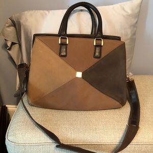 Large DVF Suede Travel Bag